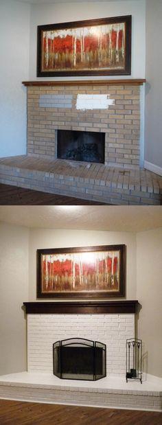 142f691be1bc92cf3f e3abe89c painted brick fireplaces fireplace brick
