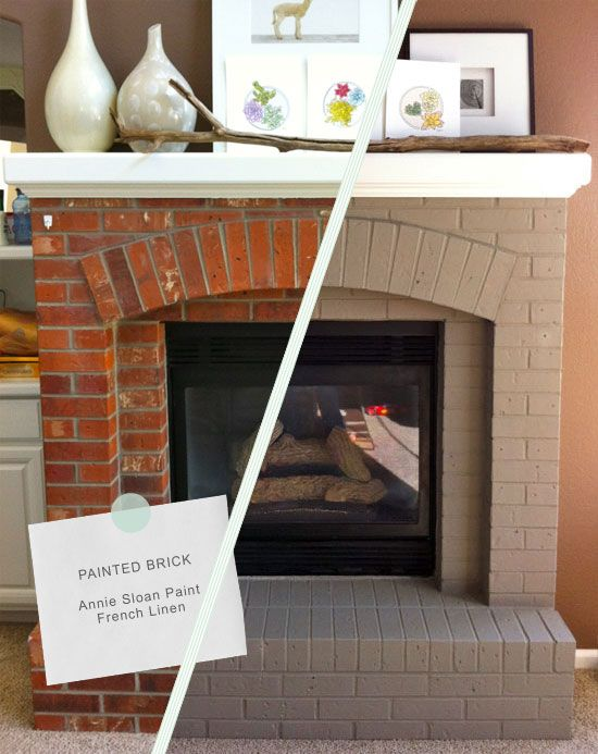 Painting Fireplace Mantle New 5 Dramatic Brick Fireplace Makeovers Home Makeover