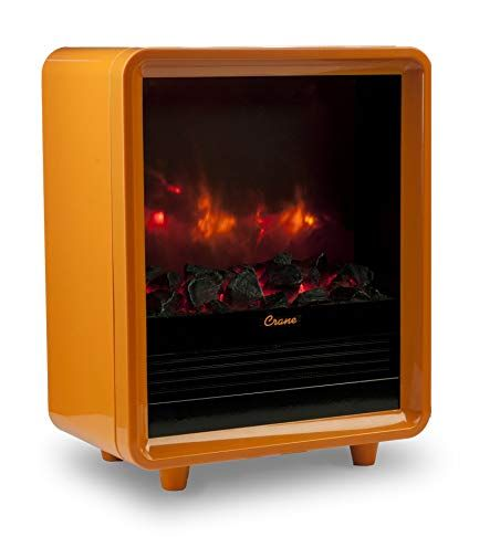 Portable Electric Fireplace Heater Inspirational Crane Mini Fireplace Heater orange Amazon Kitchen