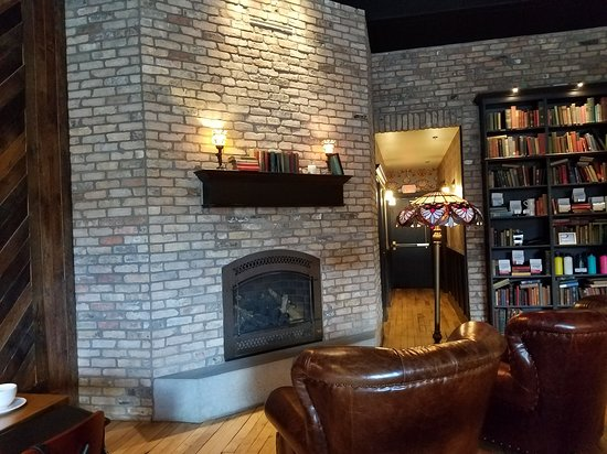 the fireplace at black