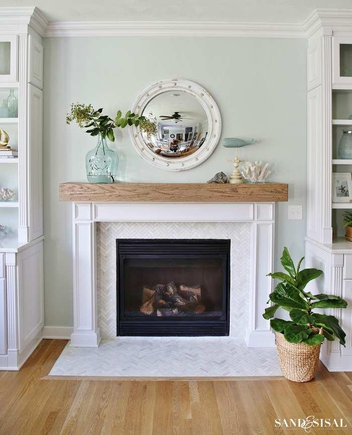 coastal fireplace mantels