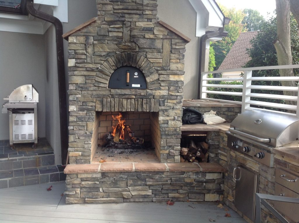 outdoor fireplace with pizza oven plans unique custom outdoor fireplace and pizza oven with an outdoor kitchen on a of outdoor fireplace with pizza oven plans
