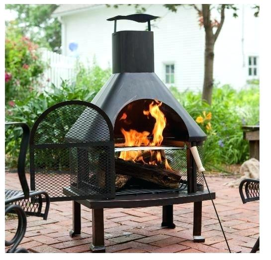 outdoor wood fireplace burning logs with cover smokestack fire bowl for sale online kits uk design ideas firep
