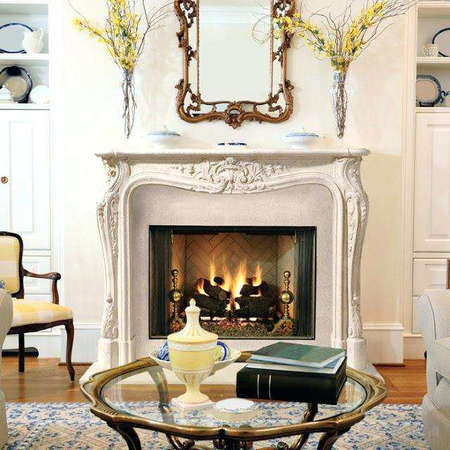 french style fireplace mantels