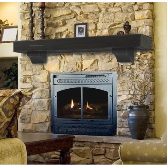 Shenandoah Espresso Finish Fireplace gvpk dh
