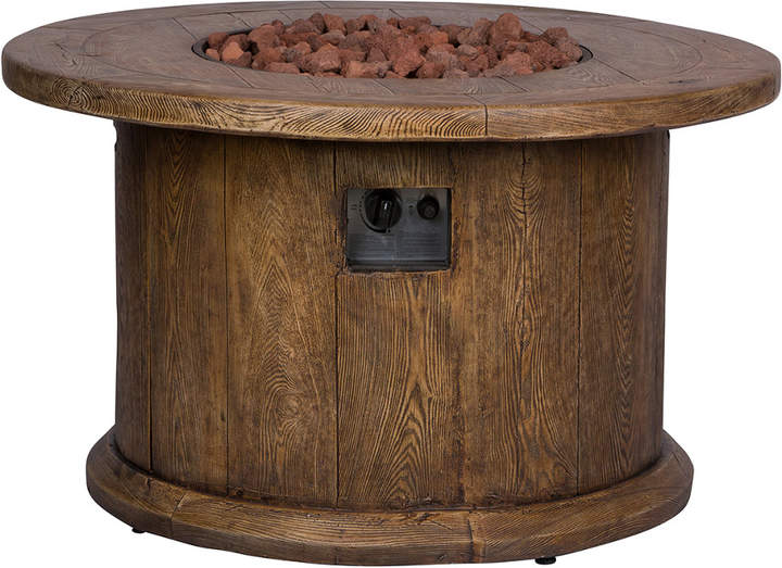 Shine Co Merida 40In Round Outdoor Propane Gas Fire Pit Table