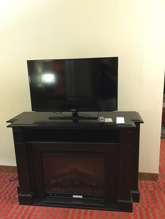 tv with fireplace