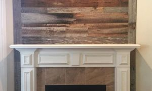 29 Lovely Reclaimed Wood Fireplace