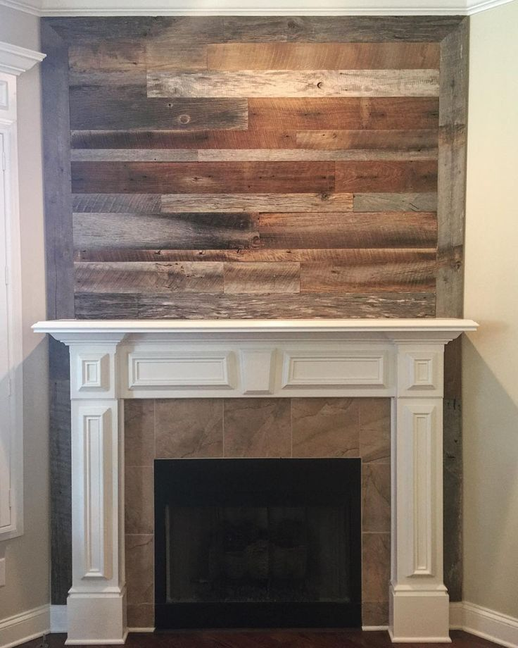 Reclaimed Wood Fireplace Wall Awesome Pallet Fireplace Genial Fireplace with Reclaimed Wood