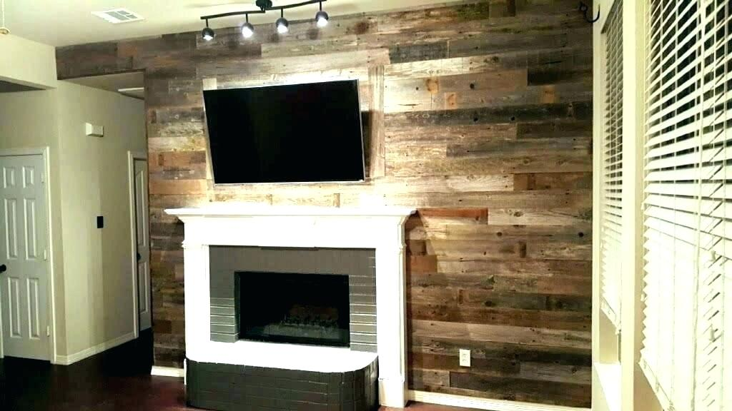 reclaimed wood wall covering accent barn woo home depot