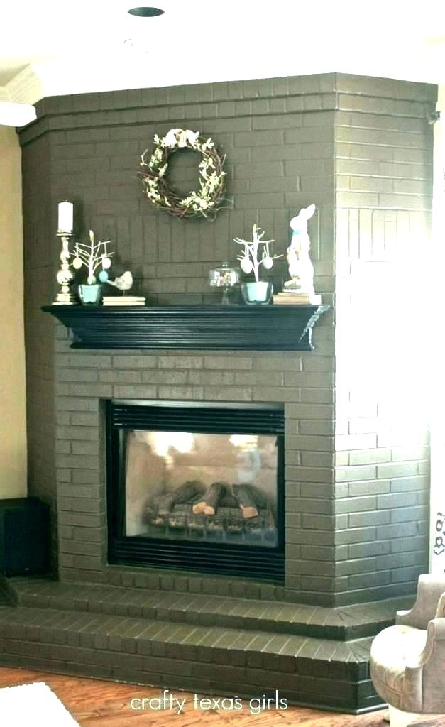 red brick fireplace decor ideas painting exciting wood mantel painted