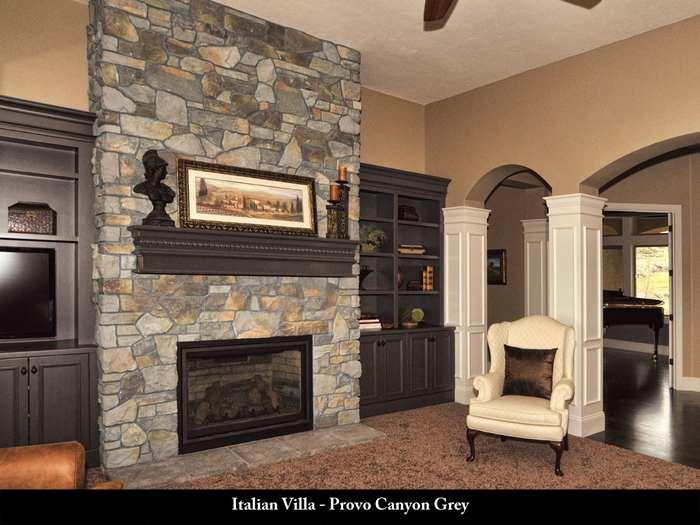 canyon stone fireplace