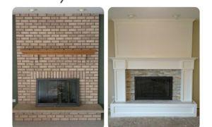 18 New Refinish Brick Fireplace