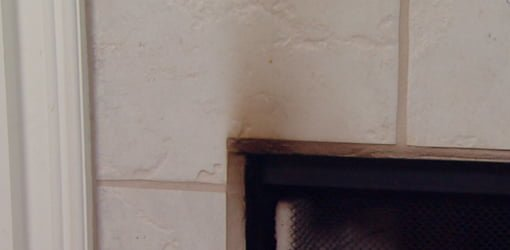 810 ad how clean soot smoke fireplace surround