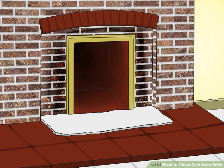Removing soot From Fireplace Brick New How to Clean soot From Brick with Wikihow