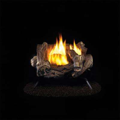 pro ventless gas fireplace logs wzl18hla 64 400 pressed