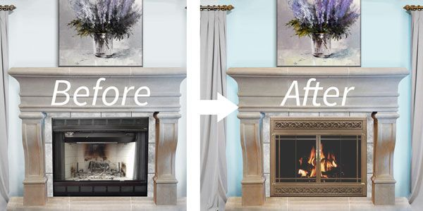 Replacing Fireplace Doors Best Of Reface Your Prefab Fireplace In A Snap
