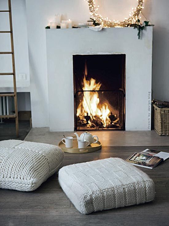 Rug In Front Of Fireplace Best Of Knitted Cushions and Gorgeous Fireplace Home