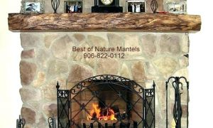 12 Awesome Rustic Fireplace Mantels for Sale