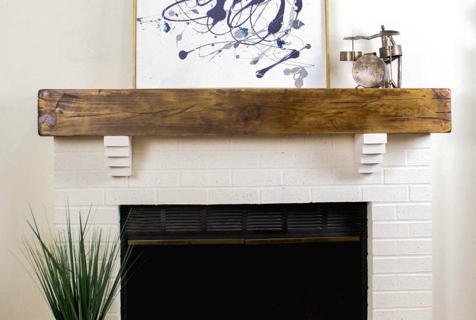 DIY Rustic Fireplace Mantel Toolbox Divas 14 of 25