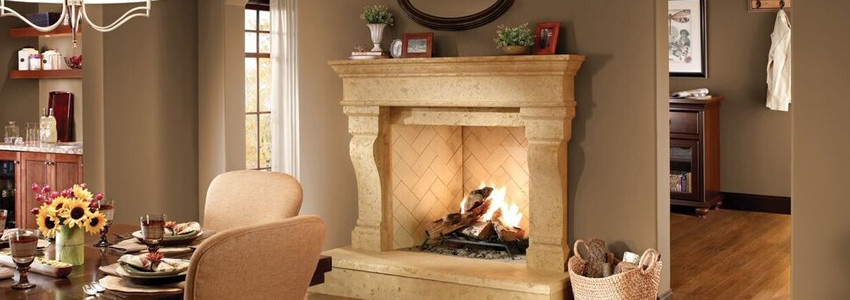 7 carved stone fireplace