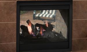 17 Beautiful See Through Gas Fireplace