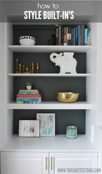 Shelves Next to Fireplace Elegant How to Style Built In Shelves