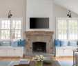 Shiplap Wall with Fireplace Lovely Kitchen Of the Week Coastal Colors and A Better Flow