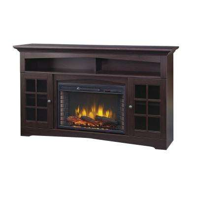espresso home decorators collection fireplace tv stands 365 166 48 64 400 pressed