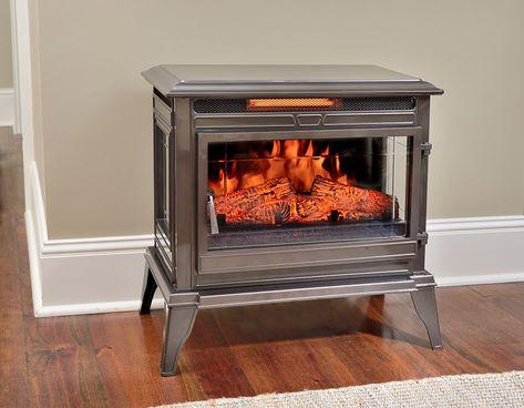 Smart Fireplace Elegant fort Smart Jackson Bronze Infrared Electric Fireplace