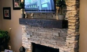 18 Luxury Stacked Stone Fireplace Surround