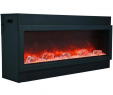 Stand Alone Electric Fireplace Elegant Amantii Deep Panorama Black Steel Surround Electric