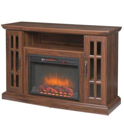 burnished walnut home decorators collection fireplace tv stands 239 118 121 y 64 400 pressed