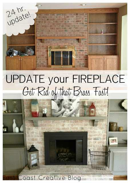 how to update a fireplace