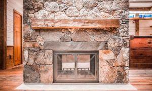15 Fresh Stone and Wood Fireplace