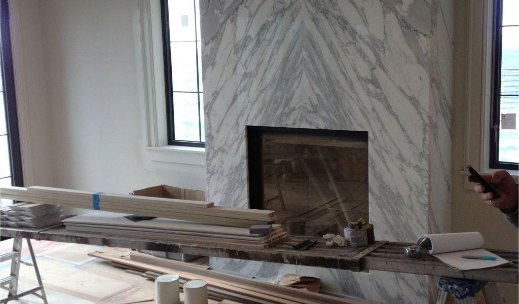 how to build a gas fireplace mantel contemporary slab stone fireplace calacutta carrara marble book of how to build a gas fireplace mantel 1024x600