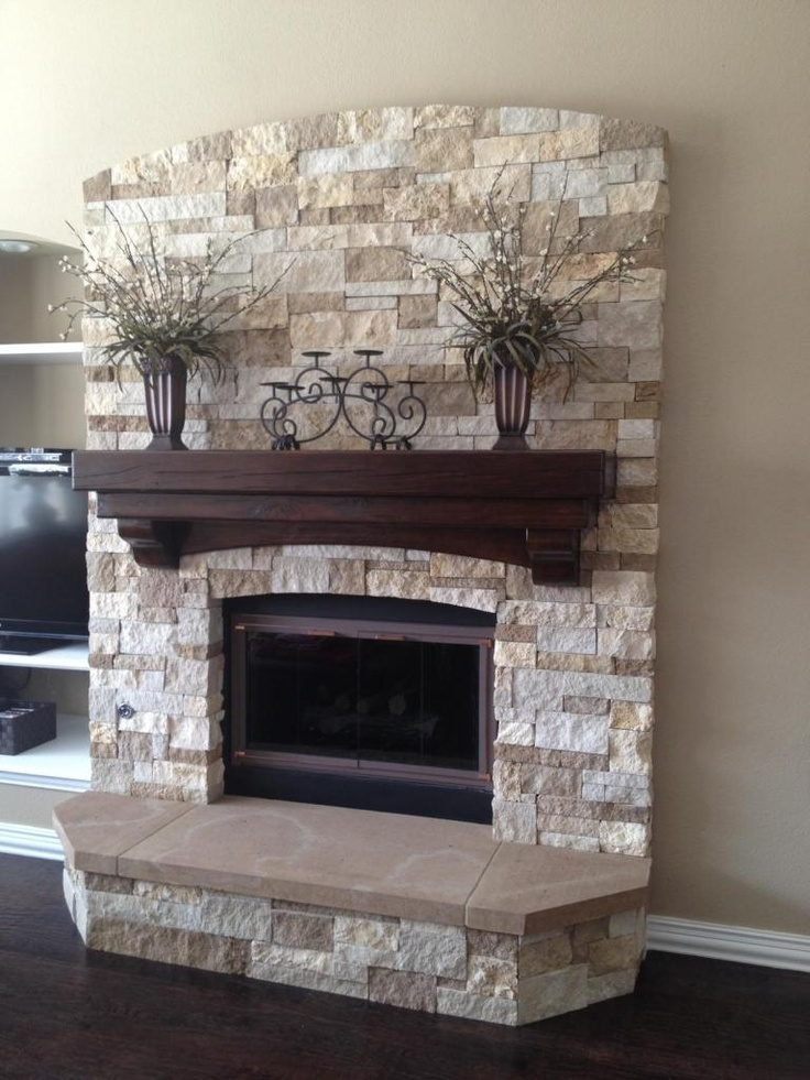 stone fireplace mantel design