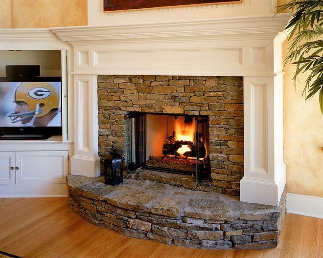 Stone Fireplace Surround Ideas New Raised Hearth Fieldstone Fireplace Traditional Living Room