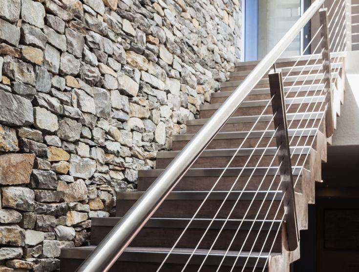 Stone Wall Next To Modern Staircase 56a49fd75f9b58b7d0d7e2b9