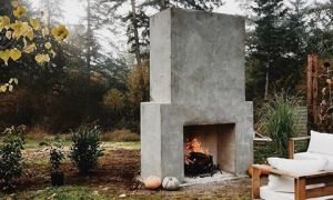 20 Inspirational Stucco Outdoor Fireplace