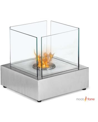 toro gf ss table top ethanol fireplace with 3 000 btu 430 stainless steel 0 7l cylinder cup burner and approximately 4 6 hours of burn time in