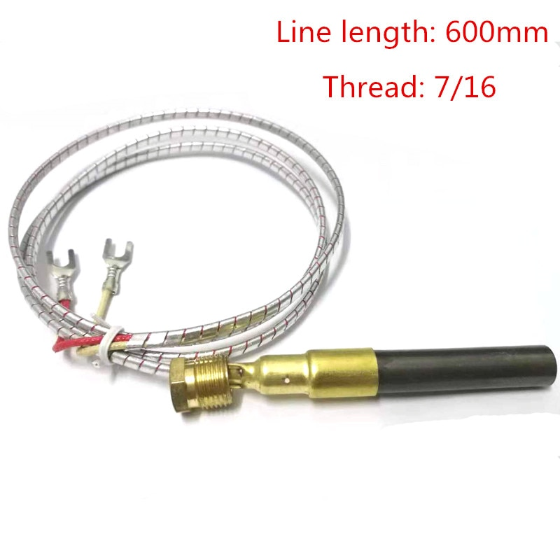 5Pcs Thermocouple 750 Degree Millivolt Replacement Thermopile Generator for Gas Fireplace Water Heater Gas Fryer Color