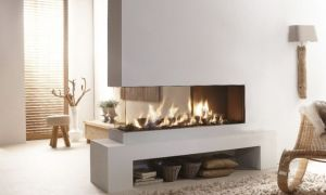 19 Unique Three Sided Gas Fireplace