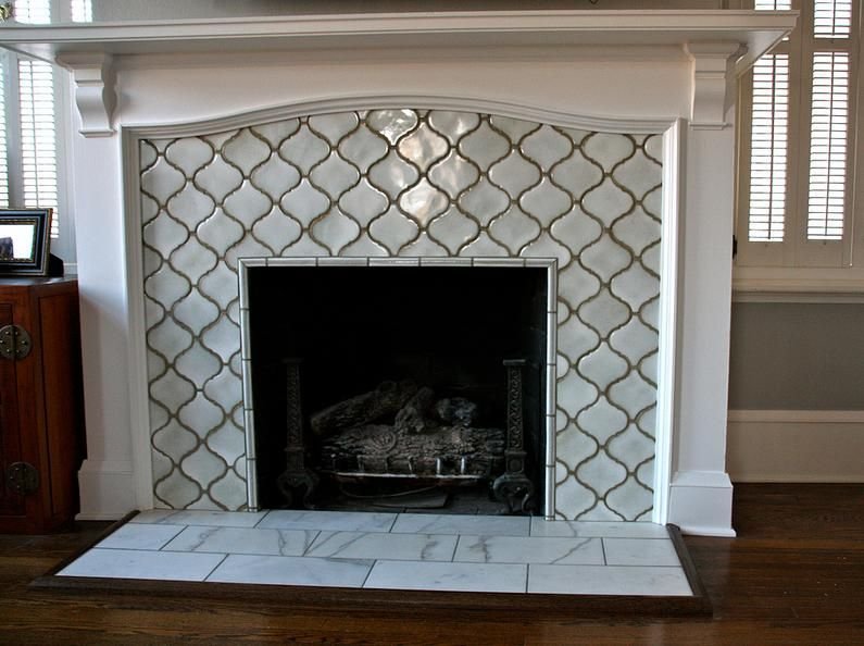 Tile Around Gas Fireplace Elegant Moroccan Lattice Tile Fireplace Yes Please