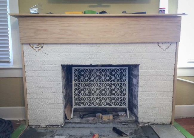 replacing fireplace mantel 650x465