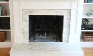 26 New Tiling A Brick Fireplace