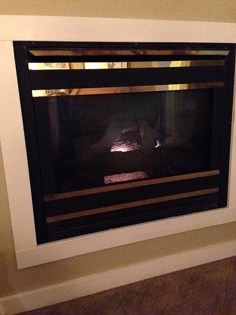 fireplace with tiny flame