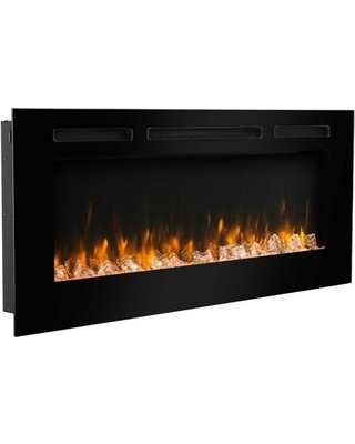 puraflame 50 in wall recessed electric fireplace touch screen control panel