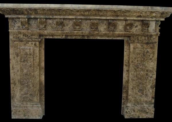 indoor natural stone fireplaces emperador fire surround 2800 kg m3 hand making