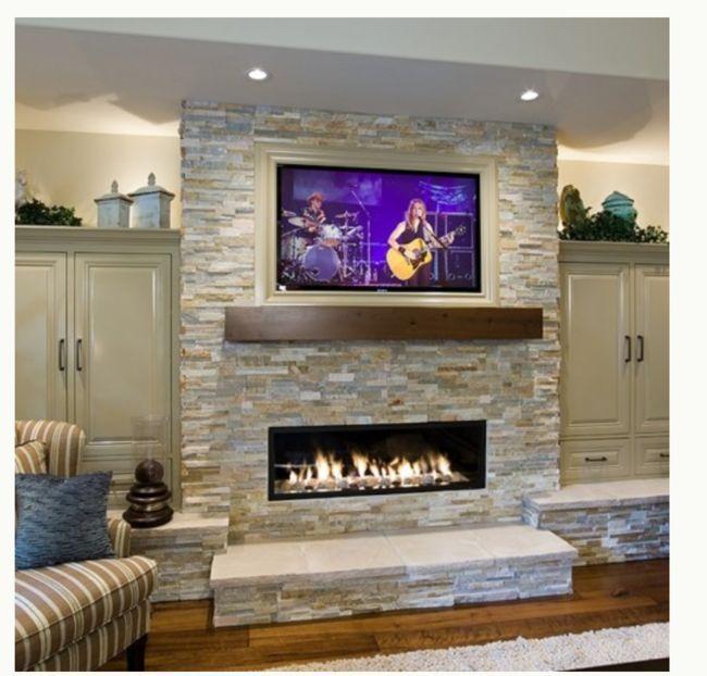 Tv On top Of Fireplace Luxury Beachwalk Slate Ledger Ledger Stone Fireplace